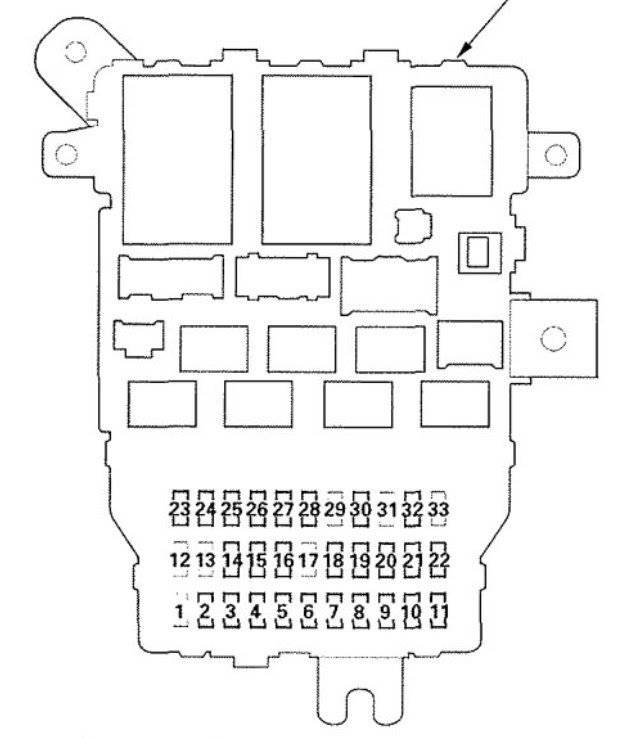 Acura RL (2009) - wiring diagrams - fuse panel - CARKNOWLEDGE