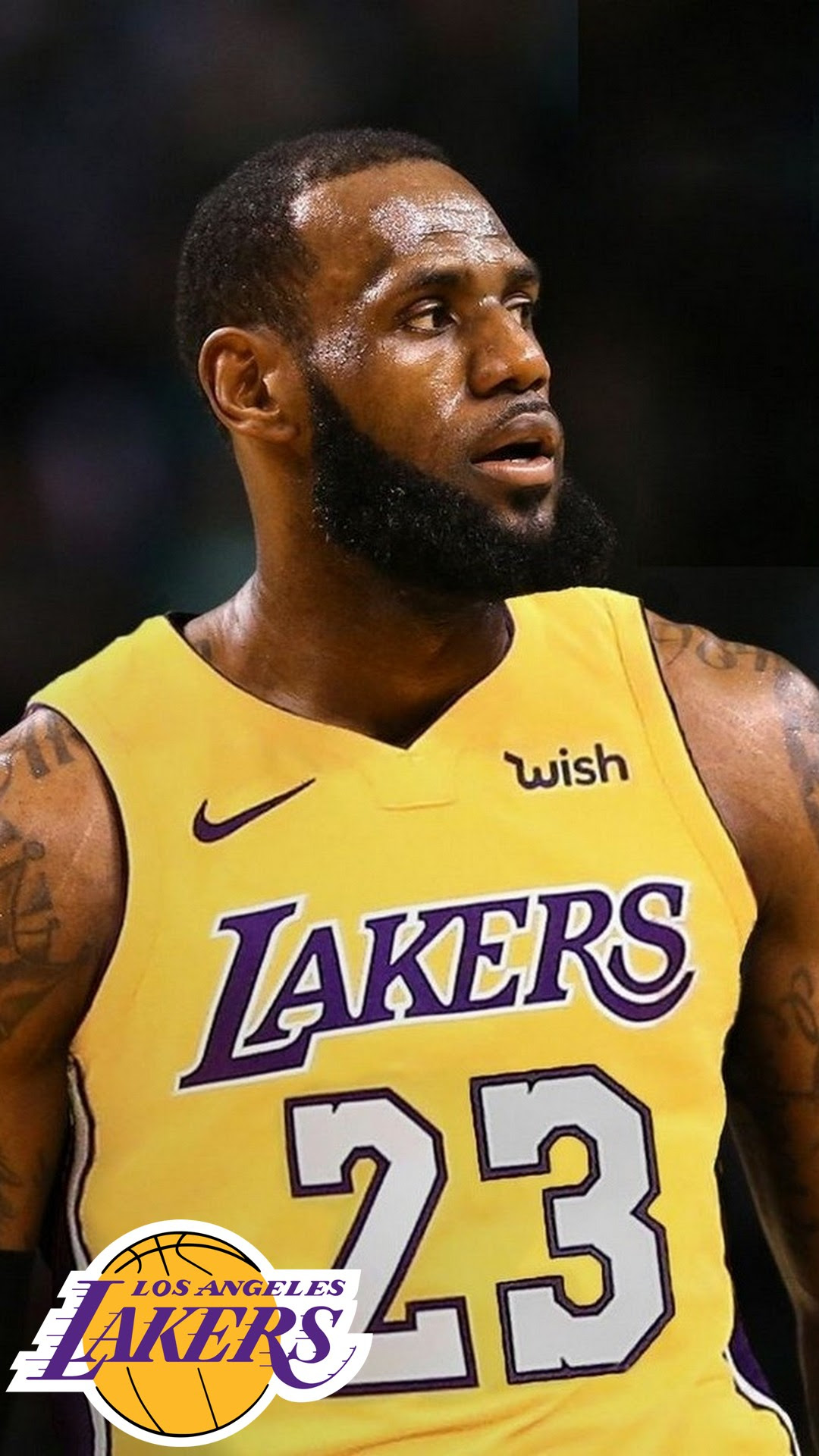 LA Lakers LeBron James Wallpaper iPhone HD | 2019 ...