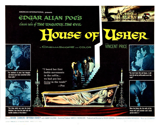 Reynold Brown - House of Usher (American International, 1960) half sheet
