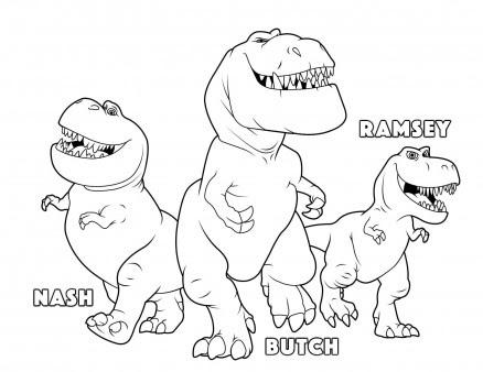 printable the good dinosaur butch ramsey nash coloring