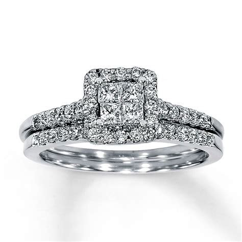 Jared   Diamond Bridal Set 5/8 ct tw 14K White Gold