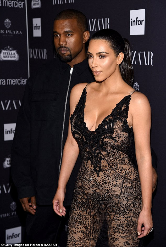 Support mode: The shapely stunner arrived in New York to support Kanye for the unveiling of his Yeezy season four collection that took place on Wednesday