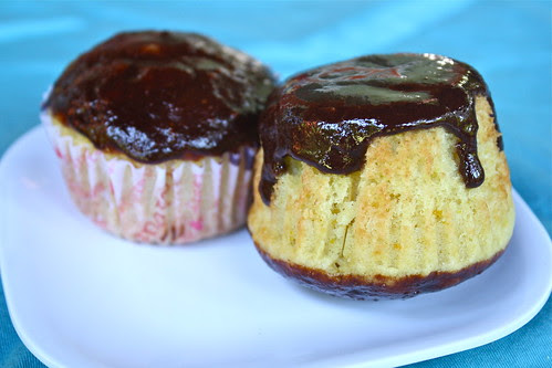 Orange Cake with Chocolate Cointreau Sauce