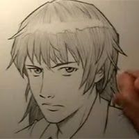 A Realistic Manga Face - Traditional-Drawing Video ...