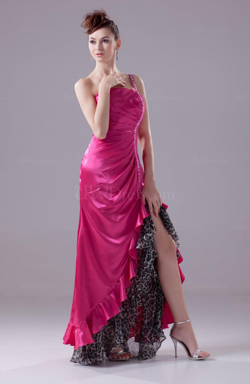 hot pink sexy aline sleeveless crisscross straps silk