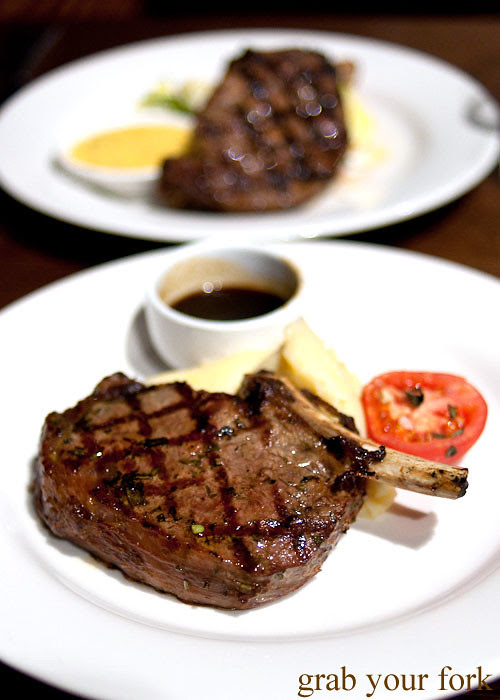 beef rib eye steak at redsalt canberra