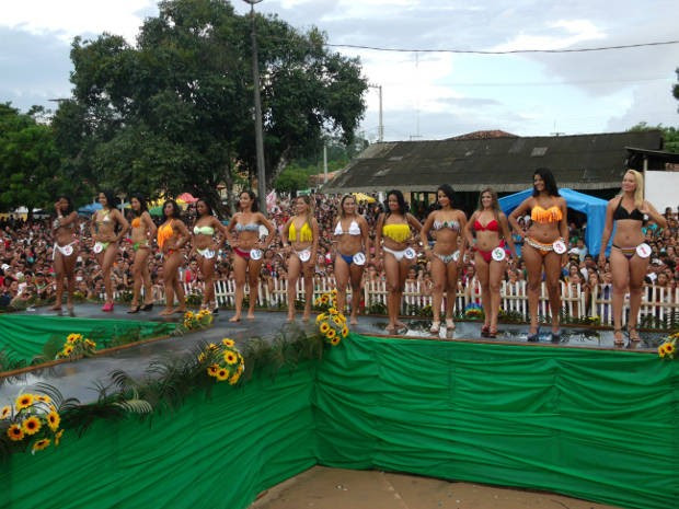 Candidatas do concurso de miss no Pará vencido por Thais Monteiro (Foto: Edivaldo Mendes / Arquivo pessoal)