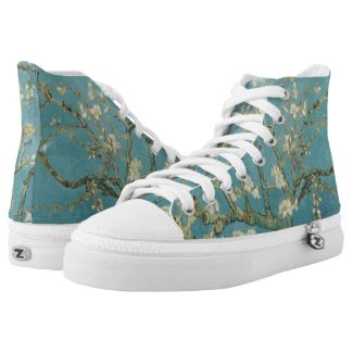 Almond tree in blossom by Vincent Van Gogh Printed Shoes