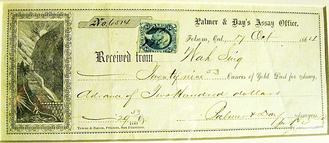 Receipt from an assay office from those same workers for 29 ounces of gold.