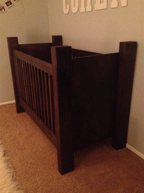 handcrafted rustic wood baby crib  rusticbabycribs