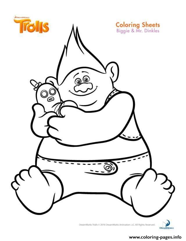 Trolls Coloring Pages Free - Coloring And Drawing