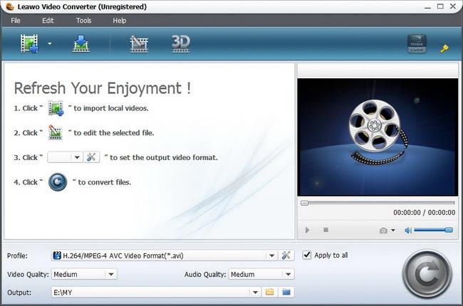 برنامج مميز لتحويل جميع صيغ الصوت والفيديو على جهازك Leawo Video Converter 5.3.0.0 تجريبى