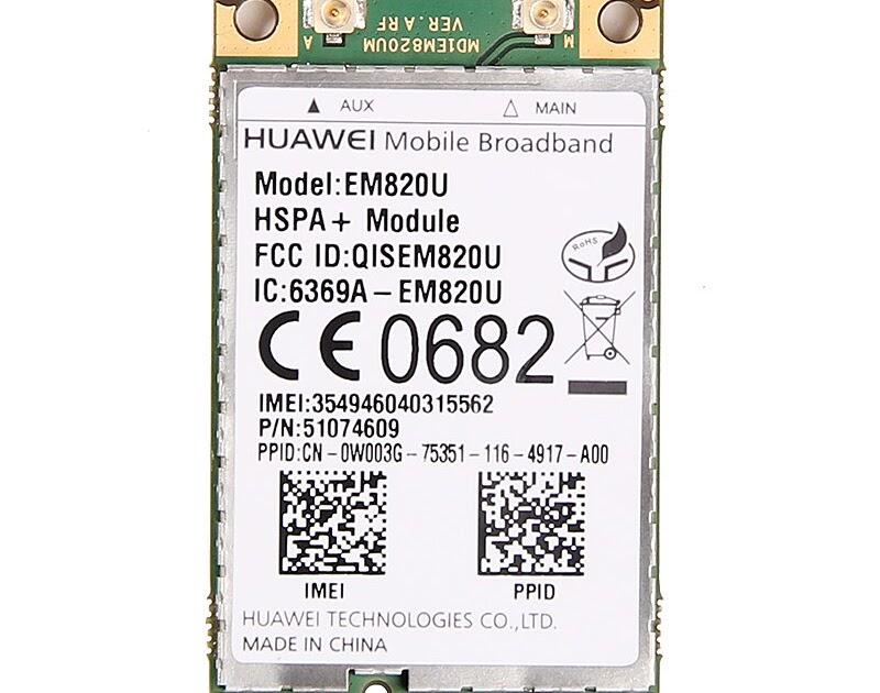 Huawei EM820U Dell OEM GPS 3G GSM WWan WLan HSPA 21MB PCI-e Module F8V4D