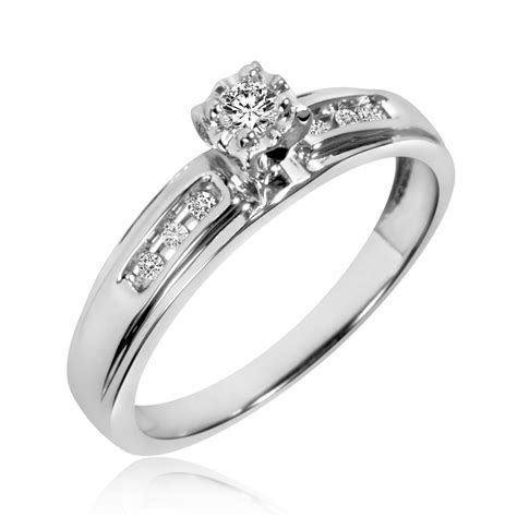 1/8 Carat T.W. Diamond Ladies' Engagement Ring 10K White