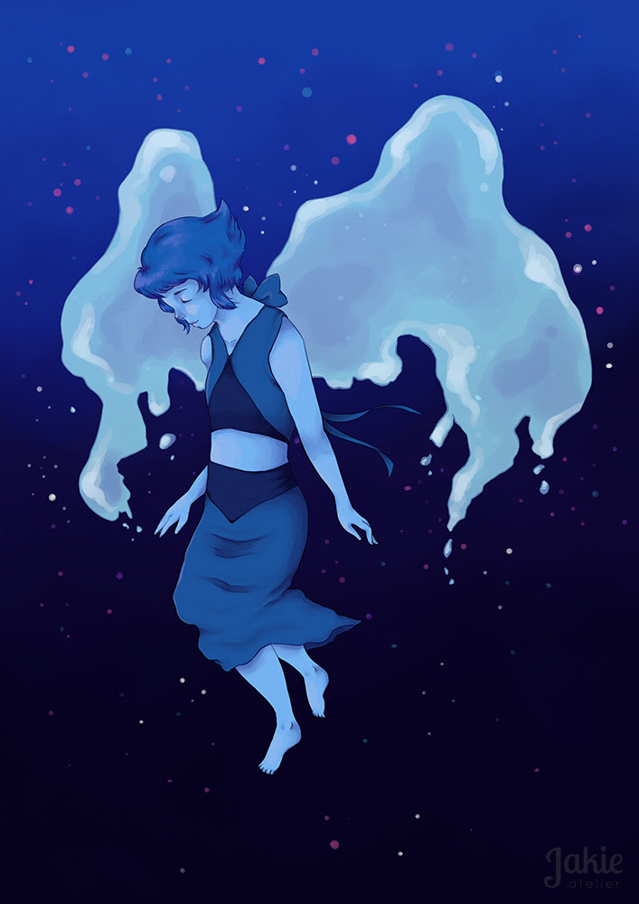 """I'm Lapis… Lapis Lazuli. Are you really a Crystal Gem?"" A Lapis illustration I did some time ago. I'm very happy with the result!"
