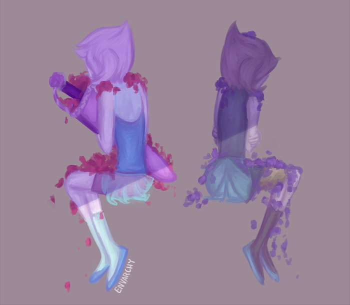 """""""If you're a lover, you should know The lonely moments just get lonelier The longer you're in love Than if you were alone. """" Pearlmethyst Week Day 5: Angst/Drama tfw you now have 2 (two) dead gem..."""
