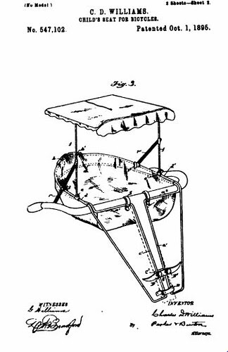 1895 Child's bike seat patent