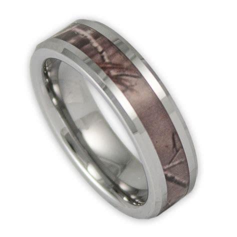 6MM Women's Tree Camo Tungsten Ring Camouflage Wedding