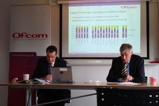Denis Wolinski (Director of Ofcom NI) at the launch of the Nations and Regions Communications Market Report 2008 (Northern Ireland) in Belfast