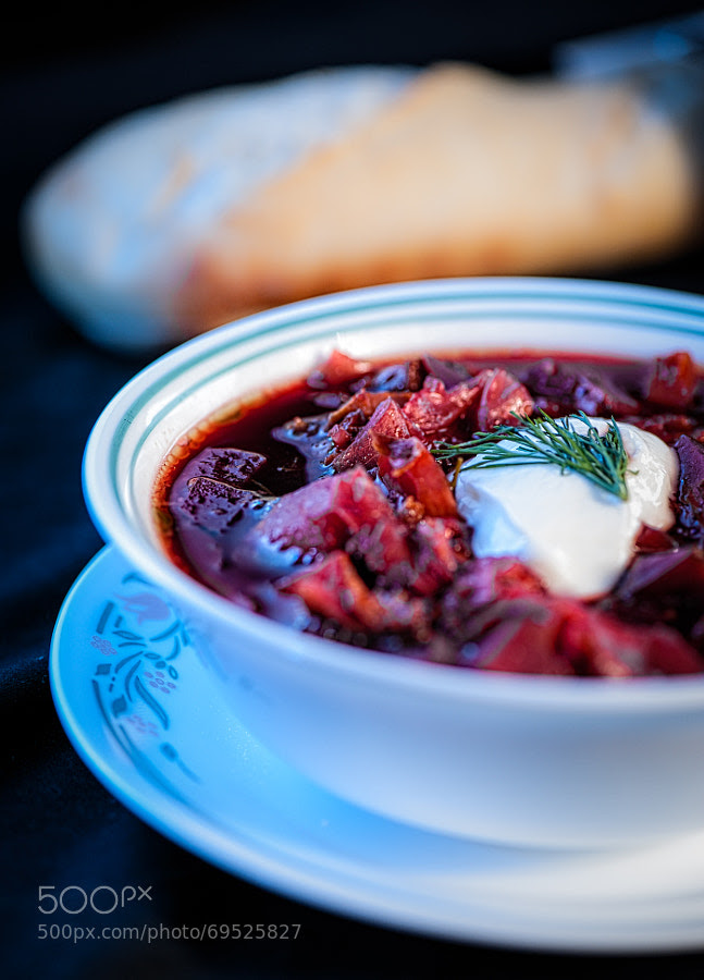 Photograph Beet Borscht and Baguette by Jay Scott on 500px