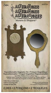 Tim Holtz Movers and Shapers Mirror and Wall Clock