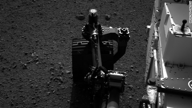NASA tested the steering on its Mars rover Curiosity on Tuesday, August 21. Drivers wiggled the wheels in place at the landing site on Mars.