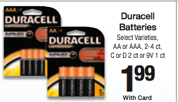 Duracell Batteries kroger