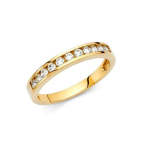Yellow Gold 14k Solid Round Ring Sizes 5 6 7 8 9 Women's