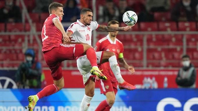 Россия забила второй мяч в ворота Мальты в отборочном матче ЧМ-2022