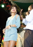 Rihanna - Side-Boob @ Reggae On The Hill in Barbados 4/26 (ADDS)