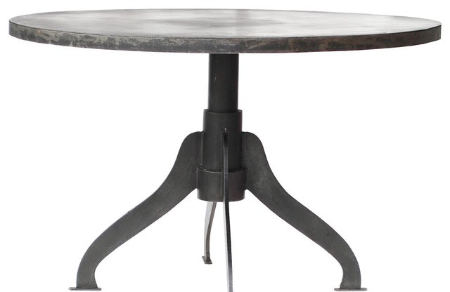 Industrial Design Round Metal Dining Table - Modern ...
