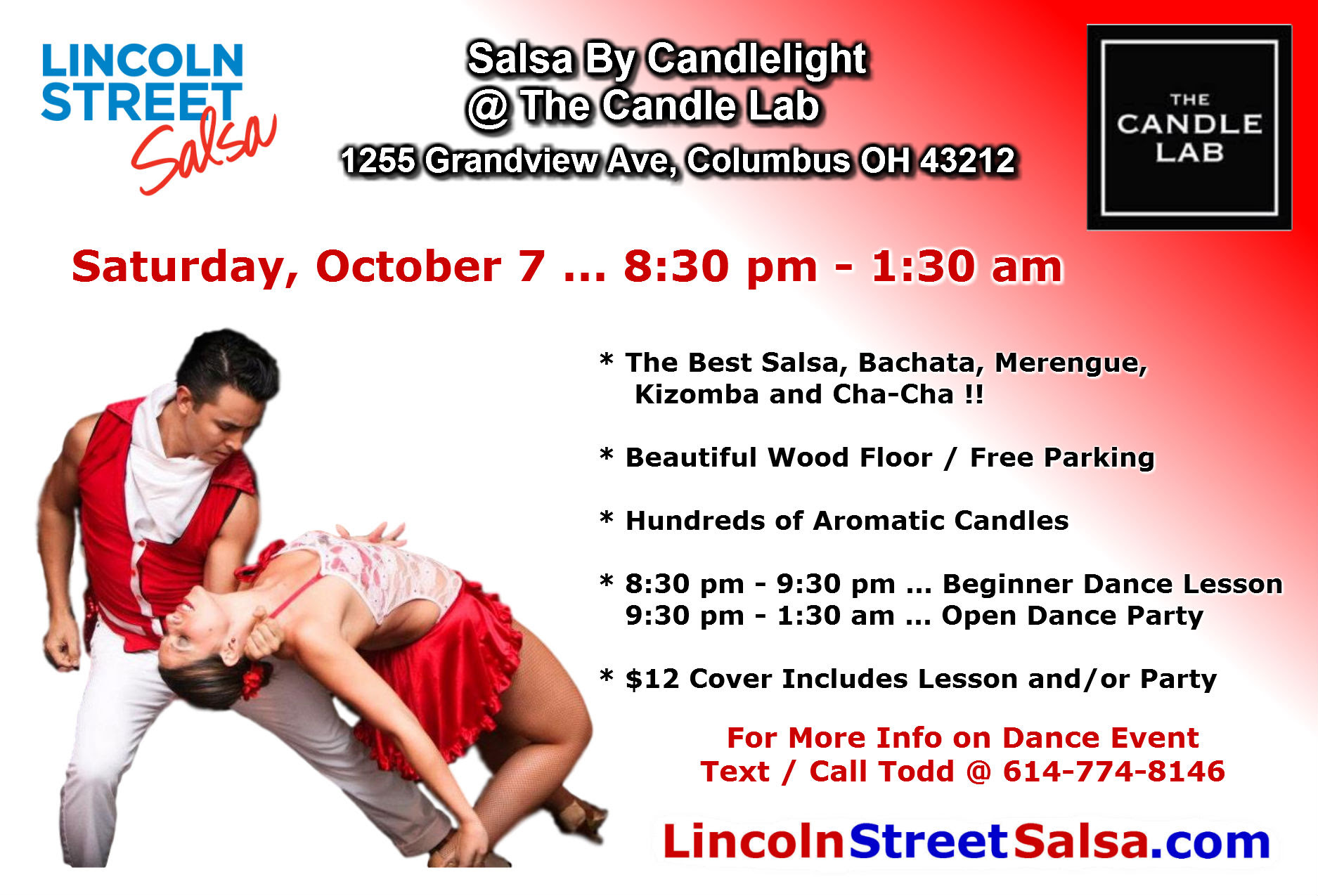 Salsa By Candlelight on Saturday, October 7 ...