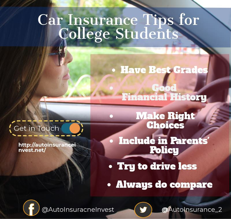 Ways College Students can Save on Car Insurance  Auto Insurance Invest