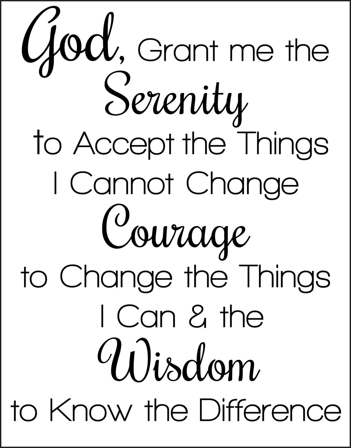 serenity prayer printable_199348