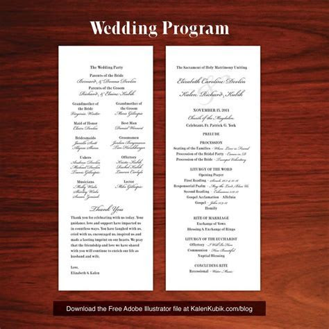 Free DIY Catholic Wedding Program AI Template. I'm a