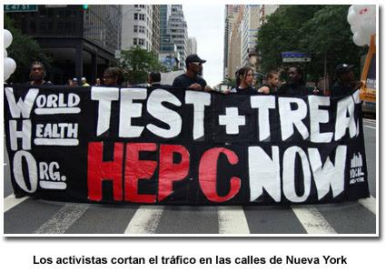 Foto: Activistas bloqueando el tráfico en la Segunda Avenida en la calle 47,