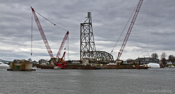 Portsmouth NH Memorial Bridge deconstruction