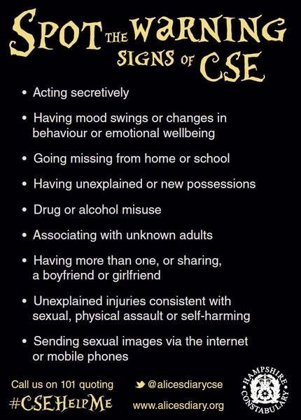 CSE Warning Signs