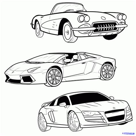 draw  sports car step  step drawing sheets added