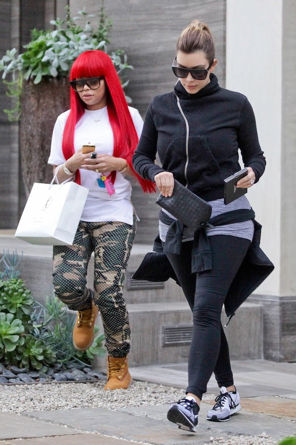 Kim Kardashian and Blac Chyna get their eyebrows touched up