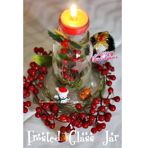 Make And Decorate Star Jar For Christmas Table Decoration