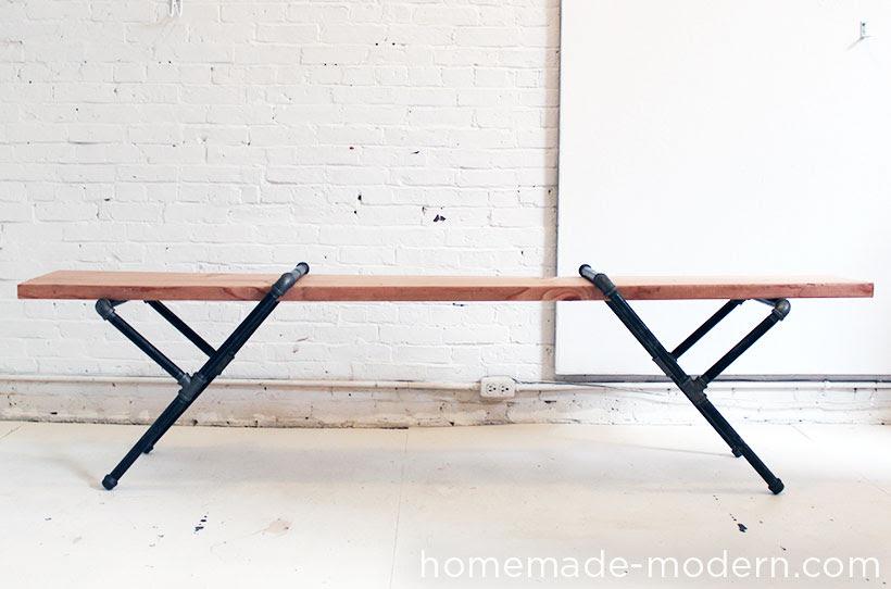 HomeMade Modern DIY Pipe Bench Options