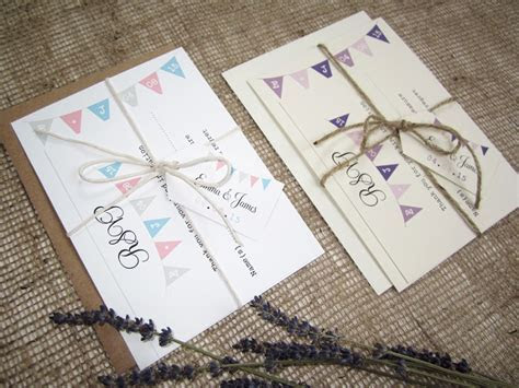 ?Village Fete? bunting wedding stationery suite » SJ