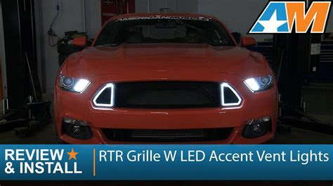mustang rtr grille  led accent vent lights