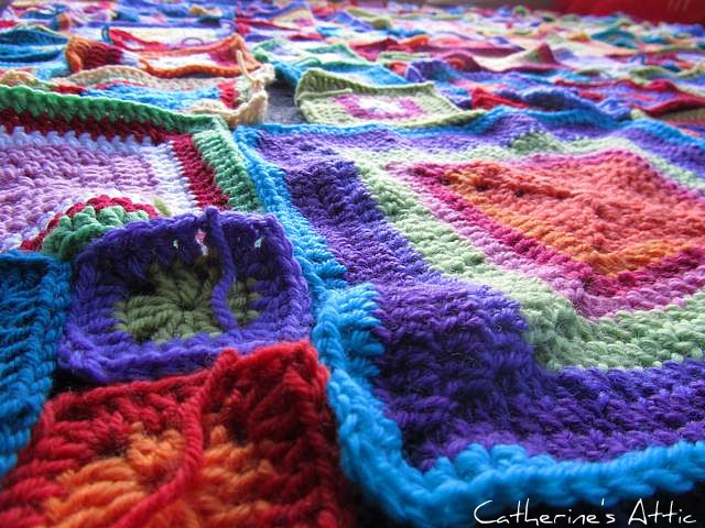 Crochet blanket neraly finished.