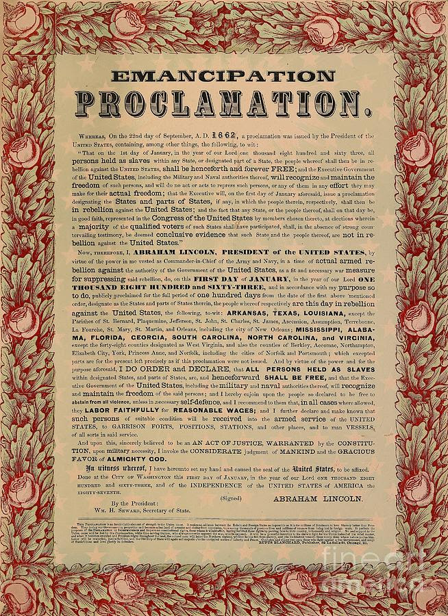 Image result for Emancipation Proclamation,
