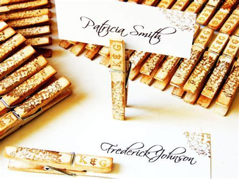 Wood Wedding Place Card Placecard Holder Personalized