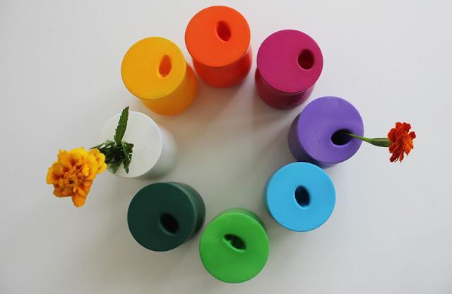 diy floreros con globos
