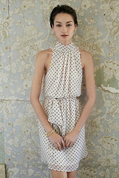 Polka dots are always in!! Deja Dot Dress #anthropologie
