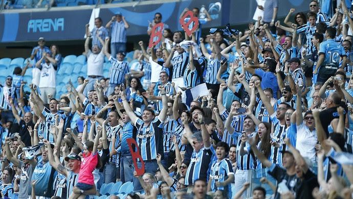 Torcida Grêmio comemora queda do Inter (Foto: Lucas Uebel/Grêmio)